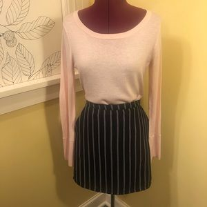 F21 | Navy Striped Mini Skirt